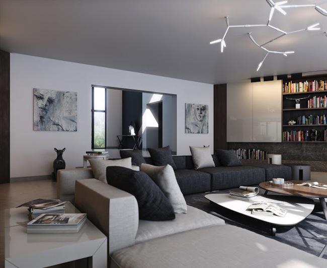 Интерьер квартиры в стиле комперари