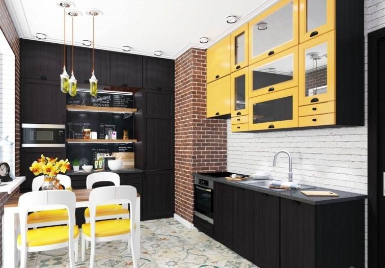 Несколько жёлтых акцентов на кухне вселяют оптимизм и улучшают аппетит