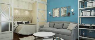 Современный дизайн однокомнатной квартиры 40 кв м