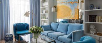 Акцентирование интерьера с помощью живописи поможет сделать маленькую гостиную уютной