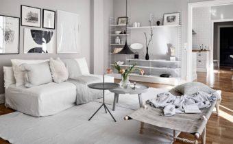 Интерьер квартиры в сером цвете