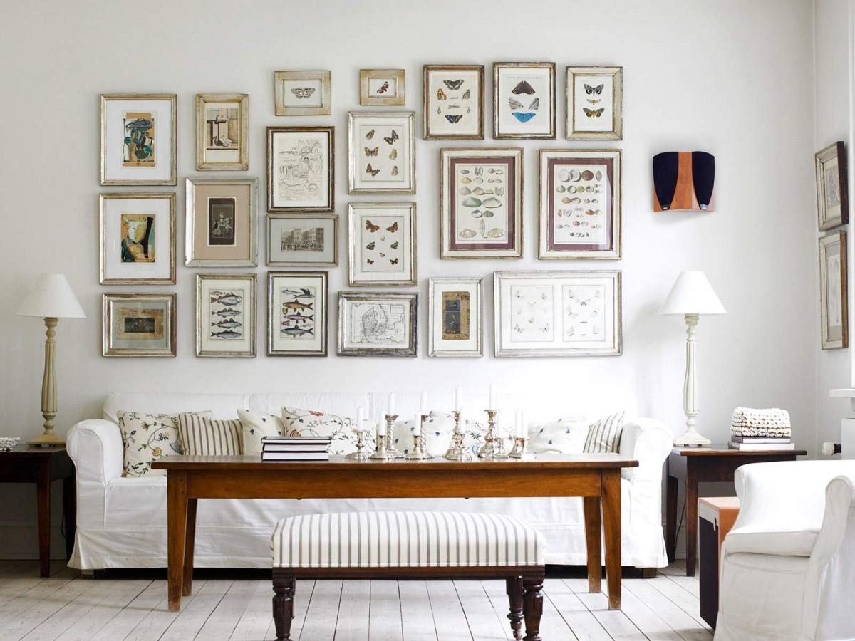 Декор стен с навесными изображениями