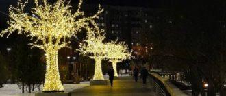 Светодиодные деревья: отличный способ преобразить ландшафт