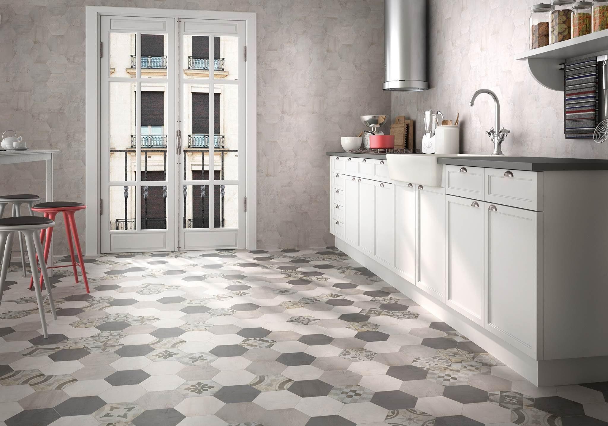 Мозаика из шестигранной плитки