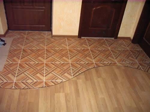 Паркет из керамической плитки